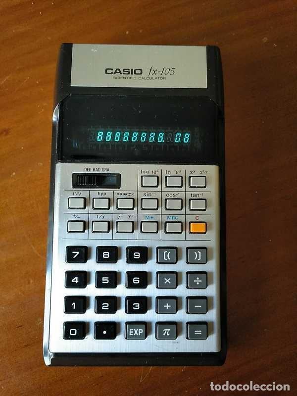 Vintage: CALCULADORA CASIO fx-105 SCIENTIFIC CALCULATOR AÑOS 70 FUNCIONANDO - Foto 14 - 183703476