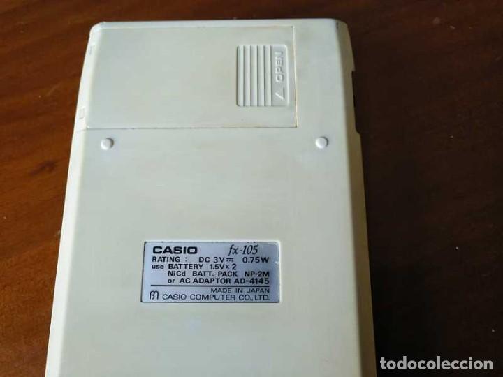 Vintage: CALCULADORA CASIO fx-105 SCIENTIFIC CALCULATOR AÑOS 70 FUNCIONANDO - Foto 17 - 183703476