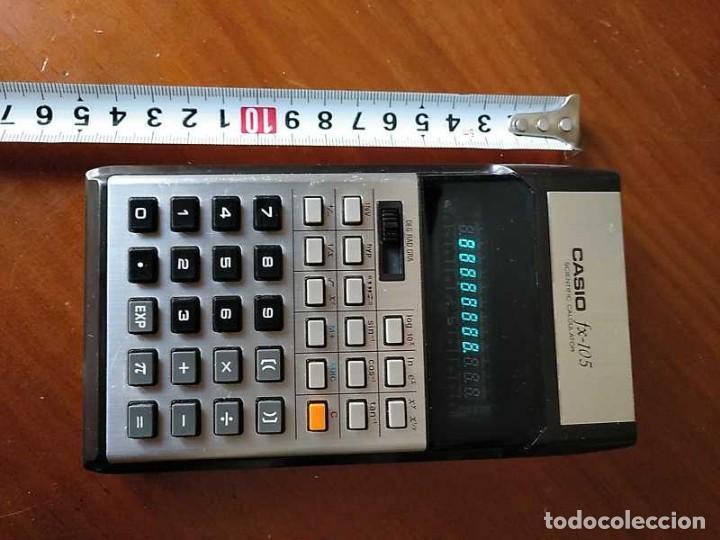 Vintage: CALCULADORA CASIO fx-105 SCIENTIFIC CALCULATOR AÑOS 70 FUNCIONANDO - Foto 41 - 183703476