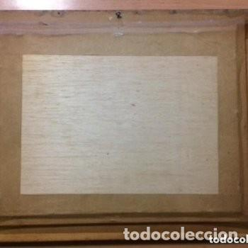 Vintage: Cuadro tridimensional en relieve 3D esmaltado con capas sobrepuestas. Escena en taberna. - Foto 2 - 183781907