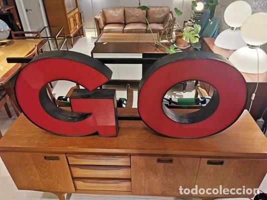 Vintage: Letras GO industriales vintage - Foto 2 - 183837886