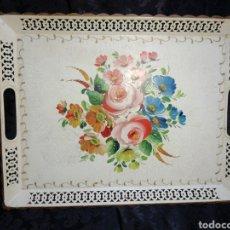 Vintage: BANDEJA DE METAL ESMALTADO. Lote 184053087