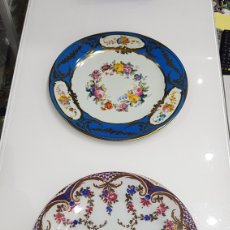 Vintage: LOTE 2 PLATOS METALICOS ELITE GIFT BOXES CHATSWORTH MADE IN ENGLAND. Lote 184120681