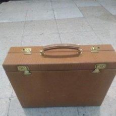 Vintage: PRECIOSO MALETÍN DE VIAJE DE PIEL ,NUEVO A ESTRENAR. Lote 184596080