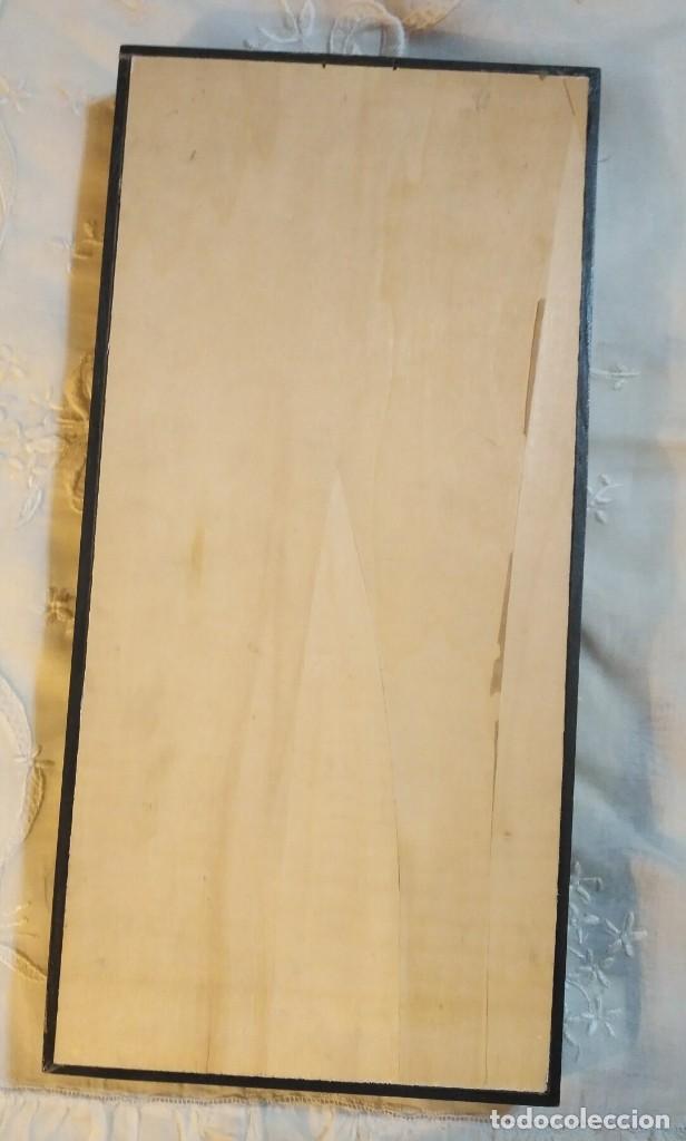 Vintage: Cuadro marco madera con cristal y paspartú con tres pequeñas máscaras - 1 - Foto 6 - 184726101