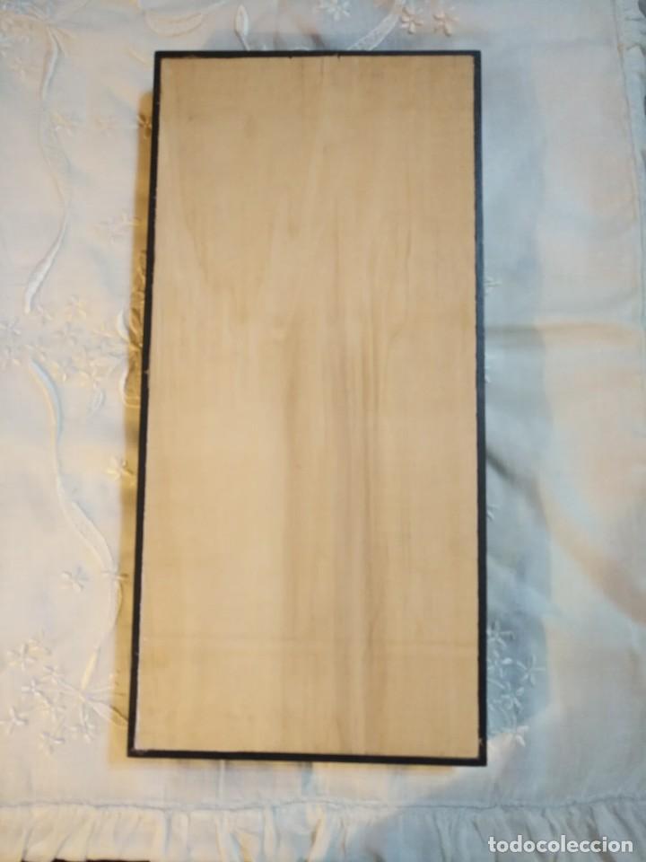 Vintage: Cuadro marco madera con cristal y paspartú con tres pequeñas máscaras - 2 - Foto 7 - 184727083