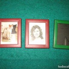 Vintage: TRES PORTA FOTOS MINI. Lote 185350281