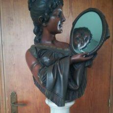 Vintage: FIGURA MUJER CON ESPEJO. Lote 83813491