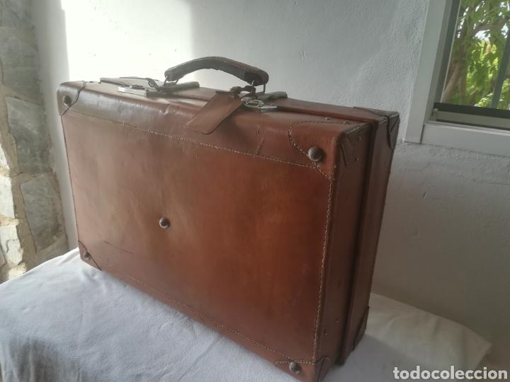 Vintage: Maleta de cuero vintage - Foto 5 - 187398255