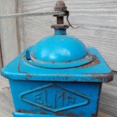 Vintage: ANTIGUO MOLINO METAL AZUL MOLINILLO CAFE ELMA EN METAL AZUL MUY VINTAGE. Lote 189839182