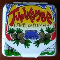 Vintage: CAJITA METÁLICA PAPEL DE FUMAR TUPINAMBA. AÑOS 80. Lote 297393078