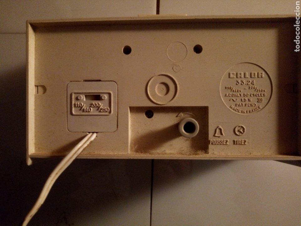 Vintage: Reloj despertador eléctrico Calor. Francia. Años 60-70. - Foto 5 - 190871307