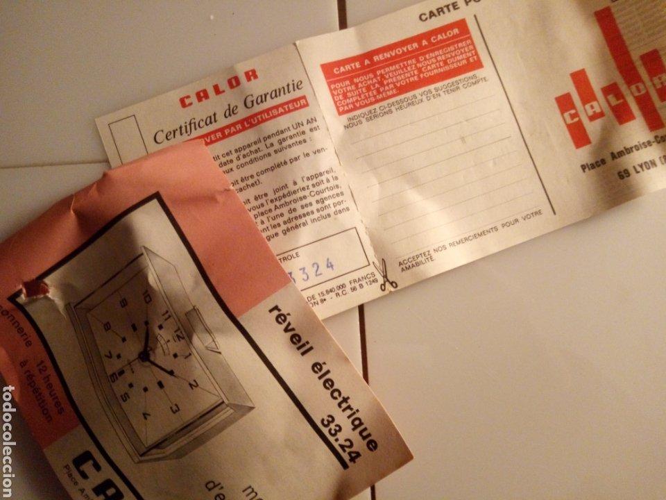 Vintage: Reloj despertador eléctrico Calor. Francia. Años 60-70. - Foto 6 - 190871307
