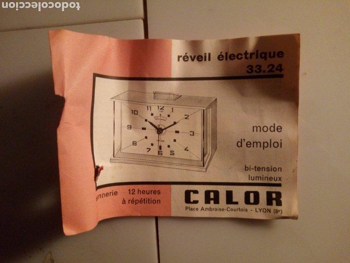 Vintage: Reloj despertador eléctrico Calor. Francia. Años 60-70. - Foto 7 - 190871307