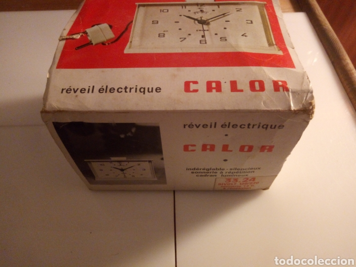 RELOJ DESPERTADOR ELÉCTRICO CALOR. FRANCIA. AÑOS 60-70. (Vintage - Varios)