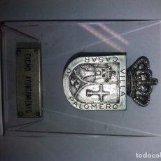 Vintage: PLACA AYUNTAMIENTO CASAR DE PALOMERO. Lote 191084257