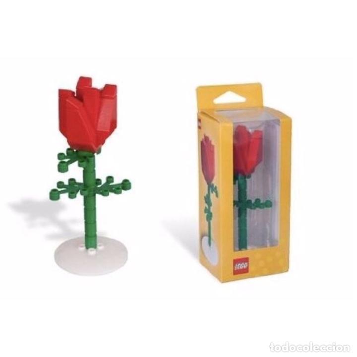 ROSA DE LEGO EN SU CAJA ORIGINAL DE 13CM MUY DIFÍCIL DE CONSEGUIR. NO ES UN JUGUETE. (Vintage - Decoración - Varios)