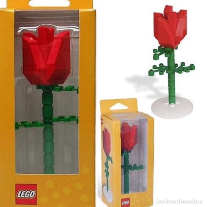 Vintage: Rosa de LEGO en su caja original de 13cm muy difícil de conseguir. No es un juguete. - Foto 2 - 191169791