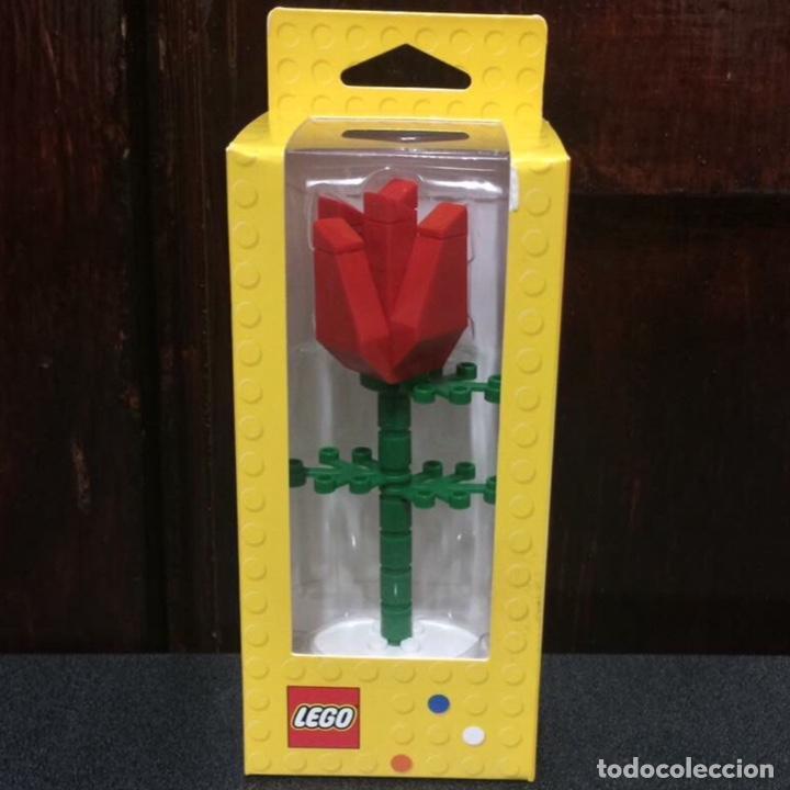 Vintage: Rosa de LEGO en su caja original de 13cm muy difícil de conseguir. No es un juguete. - Foto 3 - 191169791