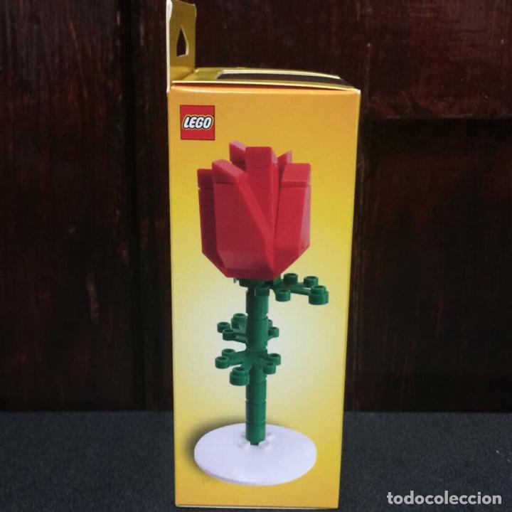Vintage: Rosa de LEGO en su caja original de 13cm muy difícil de conseguir. No es un juguete. - Foto 4 - 191169791