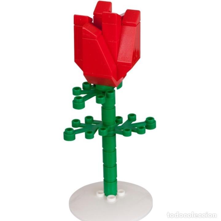Vintage: Rosa de LEGO en su caja original de 13cm muy difícil de conseguir. No es un juguete. - Foto 5 - 191169791