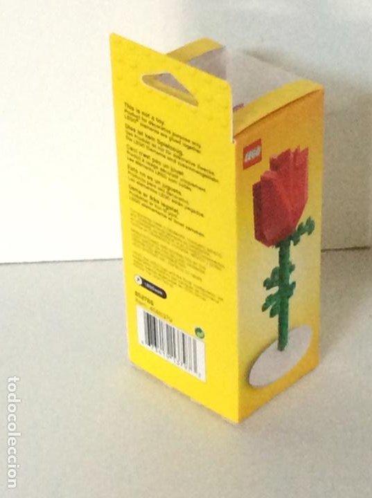 Vintage: Rosa de LEGO en su caja original de 13cm muy difícil de conseguir. No es un juguete. - Foto 7 - 191169791