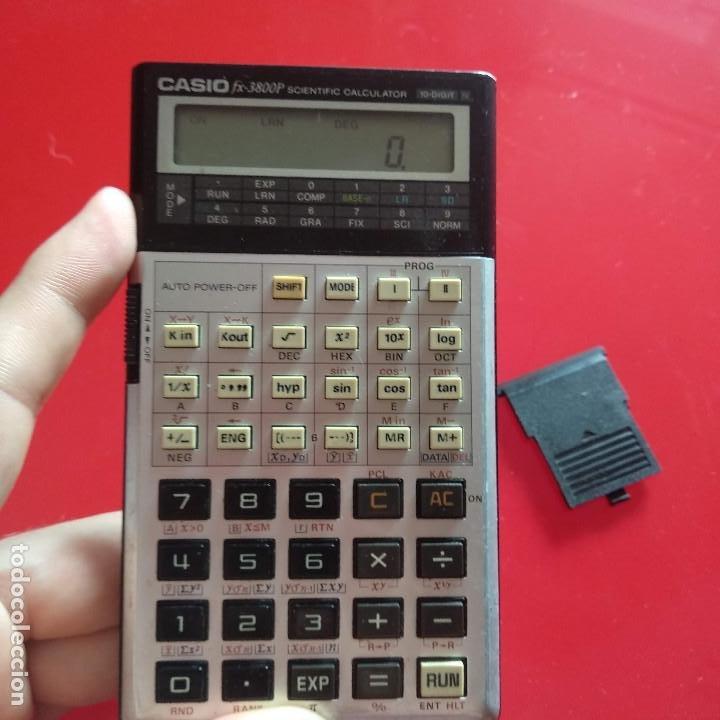 Vintage: Calculadora Casio FX 3800P - Foto 6 - 191209625