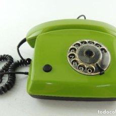 Vintage: VINTAGE TELÉFONO MARCA SCHRACK COLOR VERDE AÑOS 70 EXCELENTE PIEZA DE DECORACION. Lote 191260473