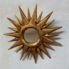 Vintage: ESPEJO SOL DORADO. Lote 191459398