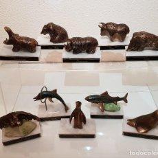 Vintage: COLECCION ANIMALES DE BRONCE. Lote 191731566