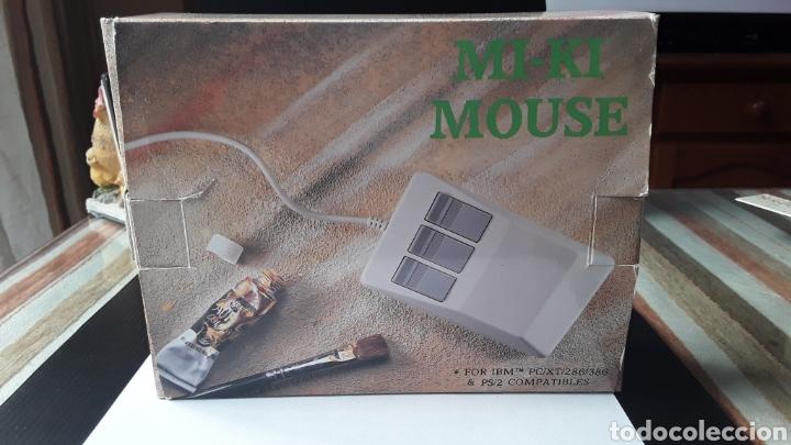 RATON- MOUSE MI-KI FOR IBM PC 286/386 PS2 COMPATIBLE- MADE TAIWAN- VINTAGE 3 BOTONES (Vintage - Varios)