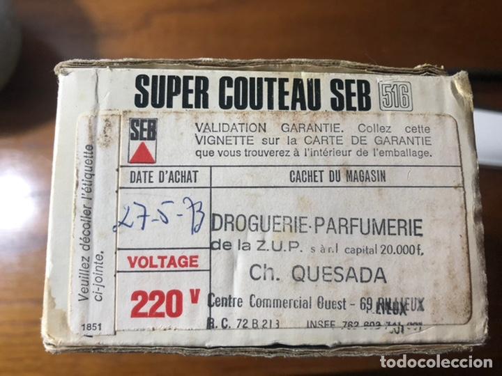 Vintage: Cuchillo eléctrico Francés SEB 516 vintage - Foto 11 - 192733312