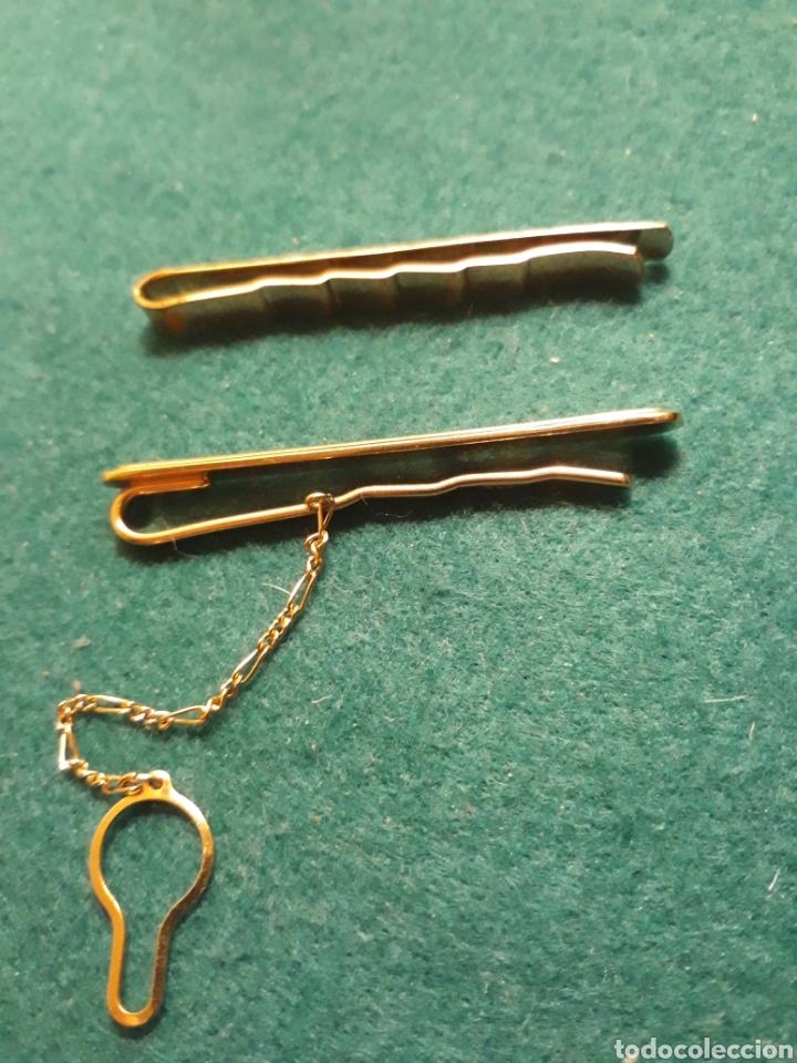 Vintage: 2 Pisacorbatas ( pasador ) DORADOS con detalles - Foto 3 - 192742107