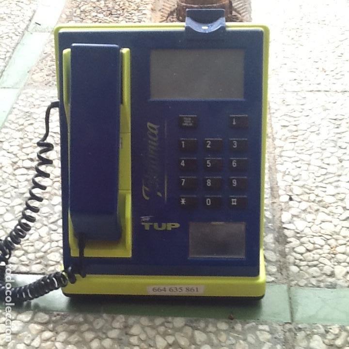ANTIGUA CABINA DE BAR DE TELEFÓNICA. MODELO TELE TUP. CON RANURA PARA MONEDAS. (Vintage - Varios)