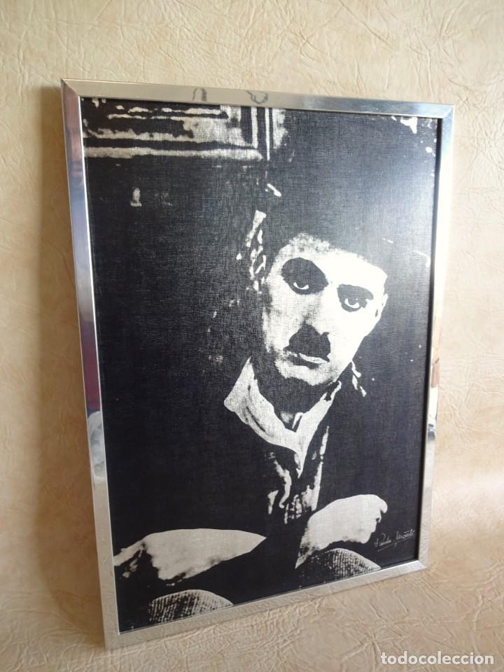 Vintage: cuadro con lamina de charles chaplin por paula monti 50 cm x 36 cm - Foto 2 - 121466543