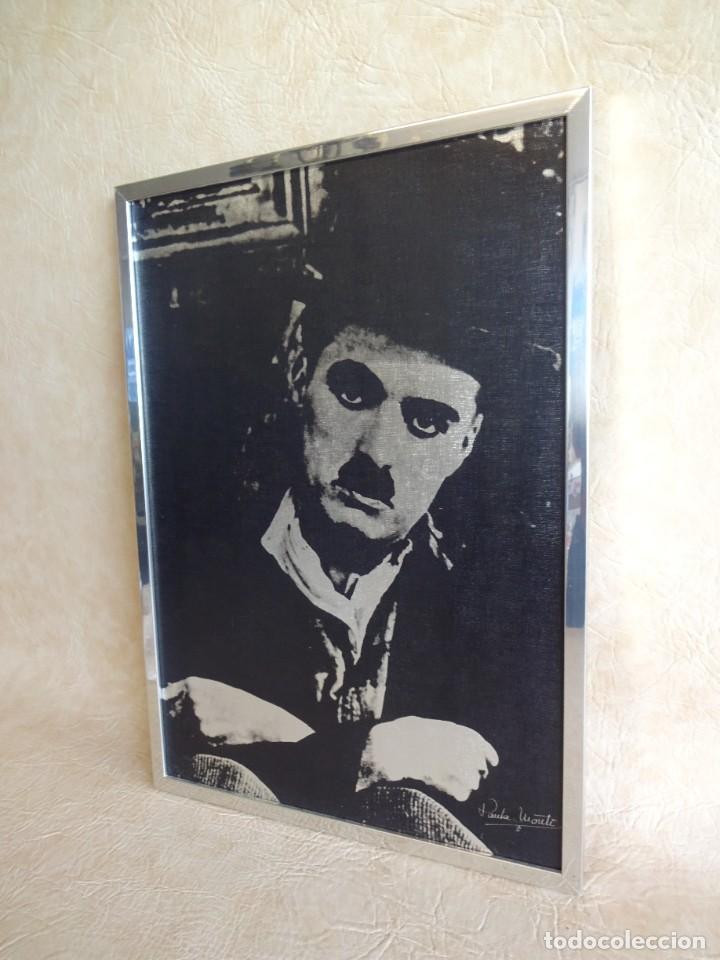 Vintage: cuadro con lamina de charles chaplin por paula monti 50 cm x 36 cm - Foto 3 - 121466543