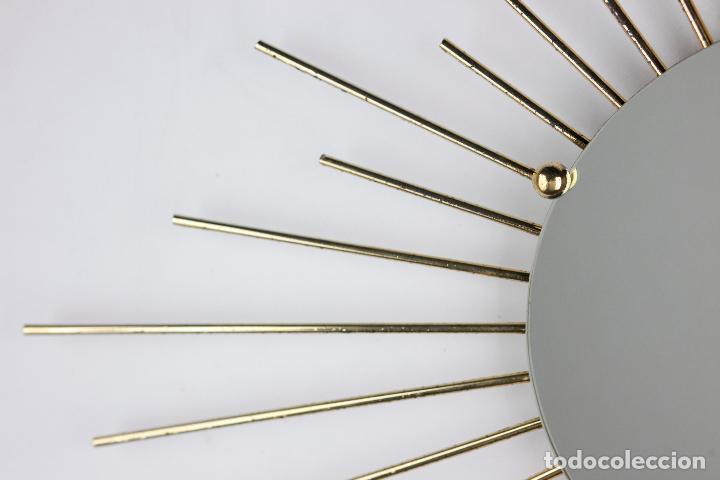 Vintage: espejo sol metal dorado barillas Francia años 70 vintage - Foto 4 - 178116153