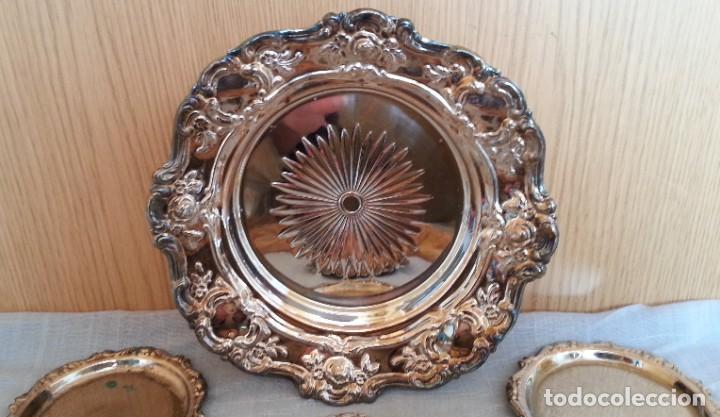 Vintage: Bandejas en metal. Conjunto de 7 piezas - Foto 2 - 194010576