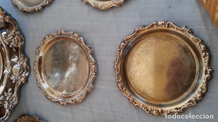Vintage: Bandejas en metal. Conjunto de 7 piezas - Foto 4 - 194010576