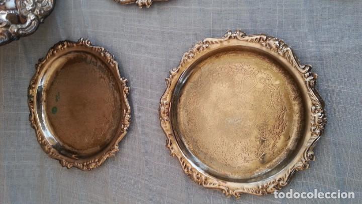 Vintage: Bandejas en metal. Conjunto de 7 piezas - Foto 5 - 194010576