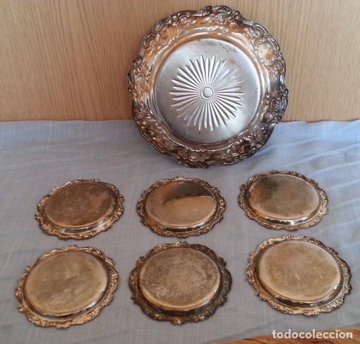 Vintage: Bandejas en metal. Conjunto de 7 piezas - Foto 6 - 194010576