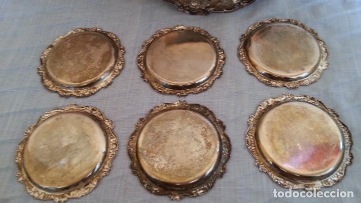Vintage: Bandejas en metal. Conjunto de 7 piezas - Foto 7 - 194010576