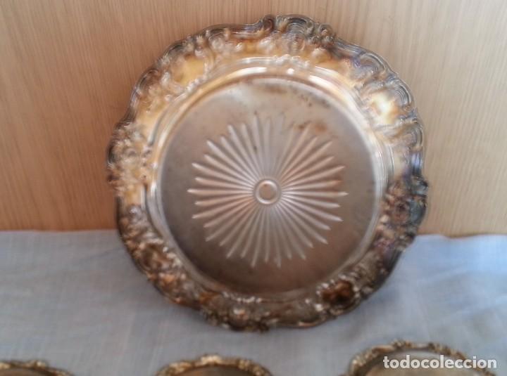 Vintage: Bandejas en metal. Conjunto de 7 piezas - Foto 8 - 194010576