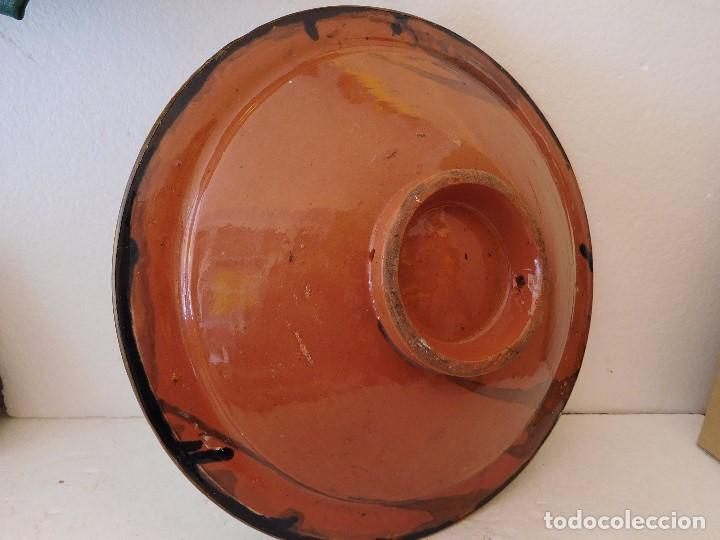 Vintage: PLATO DE CERAMICA Y METAL -DIAMETRO 35CM ALTO 8CM - Foto 4 - 194229640