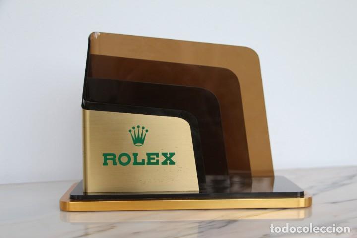 Vintage: Portatarjetas original de Rolex para escritorio, soporte de folleto, vintage ca. 1980 - Foto 4 - 194247648