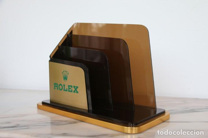 Vintage: Portatarjetas original de Rolex para escritorio, soporte de folleto, vintage ca. 1980 - Foto 10 - 194247648