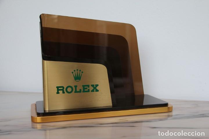 Vintage: Portatarjetas original de Rolex para escritorio, soporte de folleto, vintage ca. 1980 - Foto 11 - 194247648