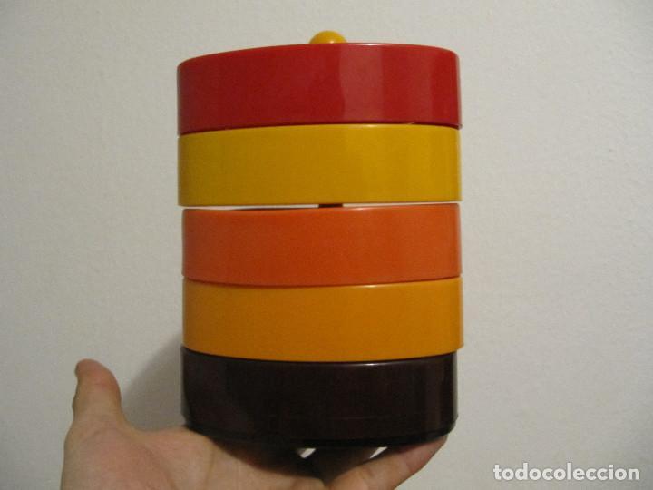 Vintage: Precioso frutero vintage años 70 para aperitivos bandejas en plastico duro varios colores - Foto 2 - 194254407