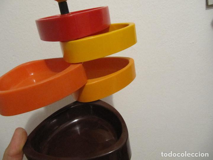 Vintage: Precioso frutero vintage años 70 para aperitivos bandejas en plastico duro varios colores - Foto 6 - 194254407