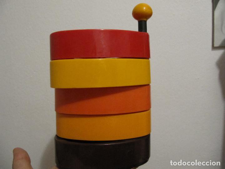 Vintage: Precioso frutero vintage años 70 para aperitivos bandejas en plastico duro varios colores - Foto 10 - 194254407